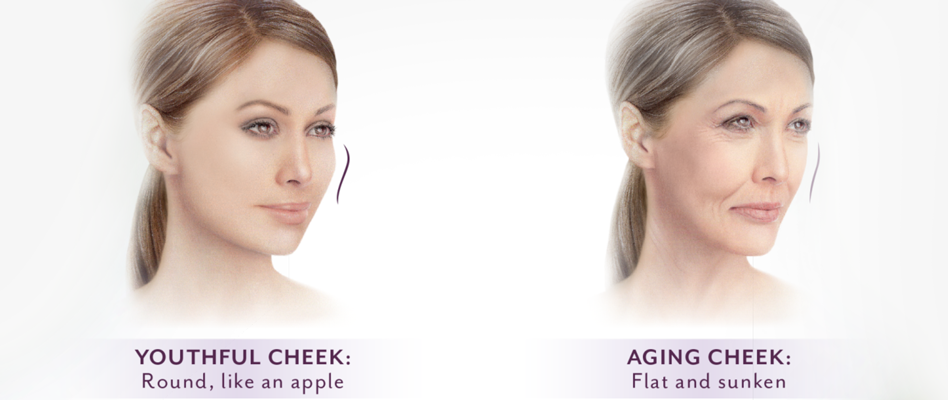 Youthful vs Aging Cheek
